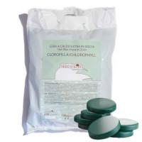 Cera A Caldo in Dischi 1kg Verde Clorofilla  Skinsystem