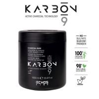 Karbon 9 - Maschera al Carbone per Capelli Stressati e Trattati - 1000ml - Echos