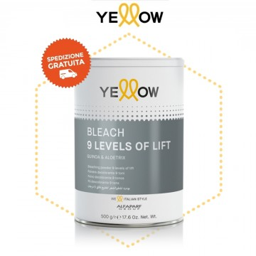 Polvere Decolorante 9 Toni - Bleach 9 Levels Of lift - 500 gr - Yellow AlfaParf