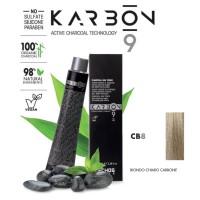 Crema Colorante Capelli Con Carbone - CB8 - Biondo Chiaro Carbone - 100 ml - EchosLine