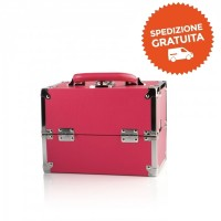 Beauty Case Make Up da Viaggio - Colore Fucsia - Labor Pro