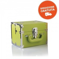 Beauty Case Make Up da Viaggio - Colore Verde - Labor Pro