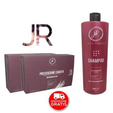 Kit Anticaduta - Shampoo 1000 ml + 24 Fiale x 10 ml - Jean Robert