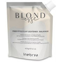 Free Style Clay Lightener - Balayage - Polvere Decolorante Compatta All'Argilla - 400 gr - NEW Inebrya Blondesse