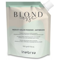 Reduct Color Powder - Antibrass - 500 gr - Polvere Decolorante Verde Compatta - NEW Inebrya Blondesse