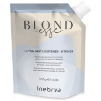 Ultra Fast Lightener - 9 Tones - Polvere Decolorante Blu Compatta - 500 gr - NEW Inebrya Blondesse
