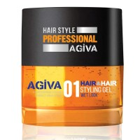 Hair Styling Gel 01 Wet Look - Gel Effetto Bagnato - 200 ml - Agiva