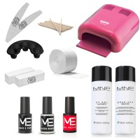 Kit Smalti Semipermanente Gel Polish 5 ml Mesauda con Fornetto Uv -36 w