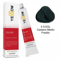 Yellow Color Permanent - Argan Oil & AloeTrix - 4 COOL Castano Medio Freddo - 100 ml - Alfaparf