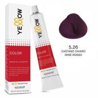Yellow Color Permanent - Argan Oil & AloeTrix - 5.26 Castano Chiaro Irisé Rosso - 100 ml - Alfaparf