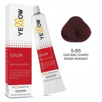 Yellow Color Permanent - Argan Oil & AloeTrix - 5.65 Castano Chiaro Rosso Mogano - 100 ml - Alfaparf