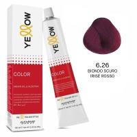 Yellow Color Permanent - Argan Oil & AloeTrix - 6.26 Biondo Scuro Irisé Rosso - 100 ml - Alfaparf