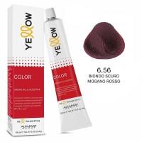 Yellow Color Permanent - Argan Oil & AloeTrix - 6.56 Biondo Scuro Mogano Rosso - 100 ml - Alfaparf