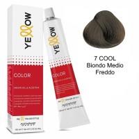 Yellow Color Permanent - Argan Oil & AloeTrix - 7 COOL Biondo Medio Freddo - 100 ml - Alfaparf