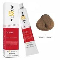 Yellow Color Permanent - Argan Oil & AloeTrix - 8 Biondo Chiaro - 100 ml - Alfaparf