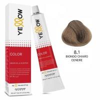 Yellow Color Permanent - Argan Oil & AloeTrix - 8.1 Biondo Chiaro Cenere - 100 ml - Alfaparf