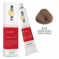 Yellow Color Permanent - Argan Oil & AloeTrix - 8.13 Biondo Chiaro Cenere Dorato - 100 ml - Alfaparf