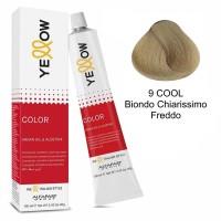 Yellow Color Permanent - Argan Oil & AloeTrix - 9 COOL Biondo Chiarissimo Freddo - 100 ml - Alfaparf