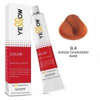 Yellow Color Permanent - Argan Oil & AloeTrix - 9.4 Biondo Chiarissimo Rame - 100 ml - Alfaparf