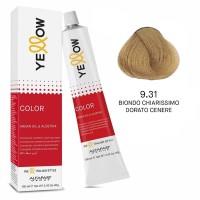 Yellow Color Permanent - Argan Oil & AloeTrix - 9.31 Biondo Chiarissimo Dorato Cenere - 100 ml - Alfaparf
