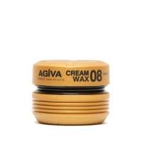 Hair Wax 08 - Cream Wax - Pasta Opaca Fissaggio Estremo - 175 ml - Agiva
